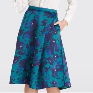 NWT Draper James Collection Cutout Floral Skirt 0